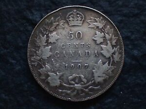 1907   50 CENTS   CANADA      IN CANADA