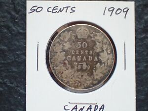 1909   50 CENTS   CANADA      IN CANADA