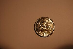 1957 CANADA 5 CENTS PL