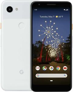 GOOGLE PIXEL 3A 64GB WHITE    T MOBILE  GSM OVERSTOCK WARRANTY SALE  4642