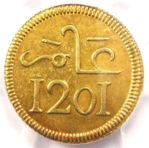 Click now to see the BUY IT NOW Price! 1787  AH1201  MOROCCO MUHAMMED III PATTERN 10 MITHQUALS COIN   PCGS AU DETAILS
