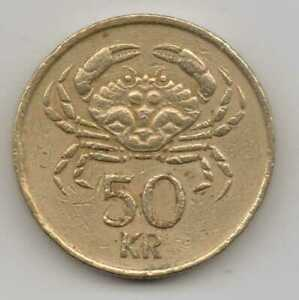 Arms with supporters Iceland 1963-2 Kronur Nickel-Brass Coin