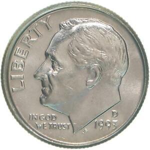 1993-P /& D CHOICE UNCIRCULATED ROOSEVELT DIMES IN MINT SET CELLO.