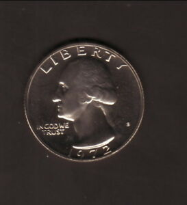 USA  1972S WASHINGTON QUARTER  PROOF