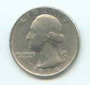 1974 P WASHINGTON QUARTER   CIRCULATED