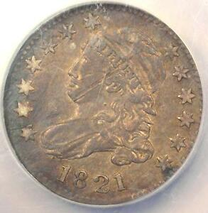 1821 JR 2 LARGE DATE CAPPED BUST DIME 10C   NGC XF DETAILS  EF    R7 VARIETY
