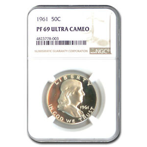 Click now to see the BUY IT NOW Price! 1961 FRANKLIN HALF DOLLAR PF 69 UCAM NGC   SKU211362