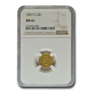 Click now to see the BUY IT NOW Price! 1857 C $1 INDIAN HEAD GOLD MS 61 NGC   SKU211883