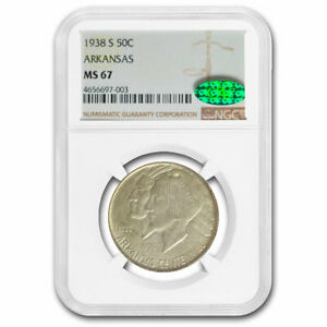 Click now to see the BUY IT NOW Price! 1938 S ARKANSAS CENTENNIAL COMMEM HALF DOLLAR MS 67 NGC CAC   SKU211886