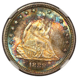 Click now to see the BUY IT NOW Price! 1888 SEATED LIBERTY QUARTER 25C NGC MS68