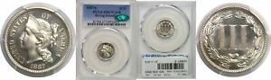 Click now to see the BUY IT NOW Price! 1887/6 NICKEL THREE CENT PIECE PCGS PR 67 CAM CAC