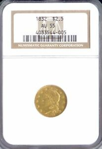 Click now to see the BUY IT NOW Price! 1832 $2.5 CAPPED BUST AU55 NGC  PA4033544005