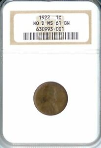 Click now to see the BUY IT NOW Price! 1922 NO D LINCOLN CENT MS61BN NGC  PA630993001