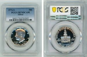 Click now to see the BUY IT NOW Price! 1976 S SILVER KENNEDY HALF DOLLAR 50C PCGS PR70DCAM BLUE LABEL