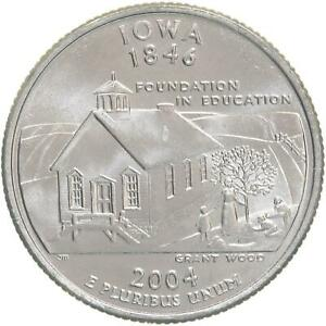 2004 D STATE QUARTER IOWA CHOICE BU CN CLAD US COIN