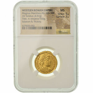 Click now to see the BUY IT NOW Price! [900390] MONEDA MAGNUS MAXIMUS SOLIDUS 383 388 AD TRIER NGC