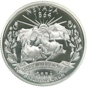 2006 S STATE QUARTER NEVADA GEM PROOF DEEP CAMEO CN CLAD COIN