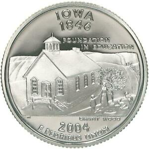 2004 S STATE QUARTER IOWA GEM PROOF DEEP CAMEO CN CLAD COIN