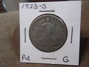 1923 S WALKING HALF GOOD       P4