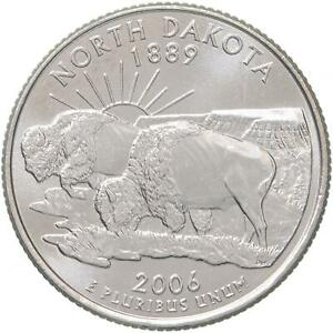 2006 D STATE QUARTER NORTH DAKOTA CHOICE BU CN CLAD US COIN