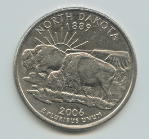 2006 D NORTH DAKOTA STATE WASHINGTON QUARTER   CIRCULATED