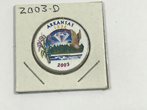 2003 D ARKANSAS COLORIZED CLAD STATE QUARTER
