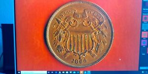 1864 TWO CENT SUPERB EXTRA FINE ROTATED REVERSE ERROR 250