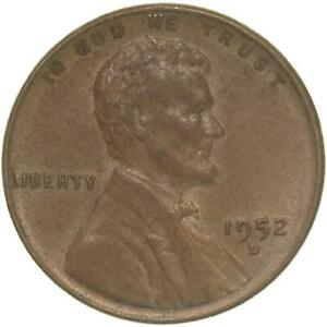 1952 D LINCOLN WHEAT CENT EXTRA FINE PENNY XF