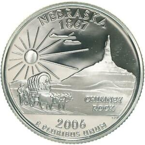 2006 S STATE QUARTER NEBRASKA GEM PROOF DEEP CAMEO CN CLAD COIN