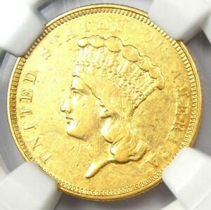 1854 O THREE DOLLAR INDIAN GOLD COIN $3   NGC AU DETAILS