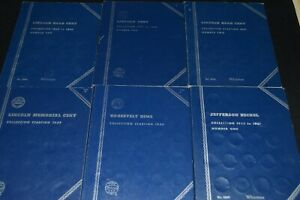 1909 1974 LINCOLN WHEAT CENT WHITMAN ALBUMS   EARLY DATES   DIMES & NICKELS