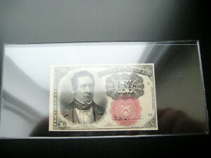 1874 CURRENCY 10 CENT FRACTIONAL SMALL UNITED STATES NOTE CHOICE UNC BU NOTE