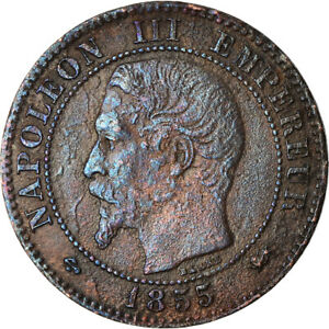 [881122] COIN FRANCE NAPOLEON III 2 CENTIMES 1855 LYON F