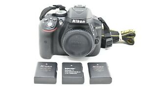 NIKON D5300 DSLR CAMERA BODY ONLY WITH 3 BATTERIES LOW SHUTTER COUNT