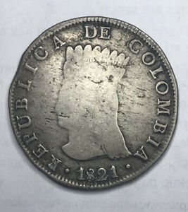 1821 COLOMBIA BA JF 8 REALES