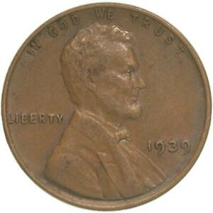 1939 LINCOLN WHEAT CENT EXTRA FINE PENNY XF