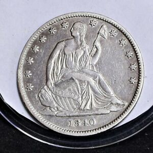 1840 LIBERTY SEATED HALF DOLLAR   REV '38   CH XF  30687