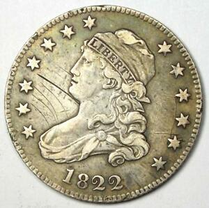 1822 CAPPED BUST QUARTER 25C   VF / XF DETAILS    EARLY DATE COIN
