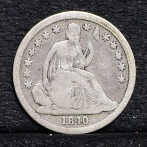 1840 LIBERTY SEATED DIME   NO DRAPERY   GOOD  30466