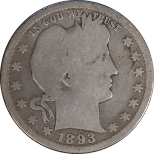1893 S BARBER QUARTER GREAT DEALS FROM THE EXECUTIVE COIN COMPANY