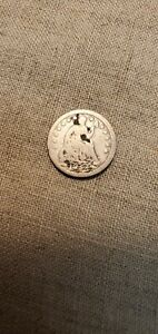 1854 SILVER SEATED LIBERTY HALF DIME WITH ARROWS  RAW429