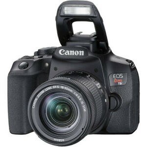 CANON EOS REBEL T8I DSLR CAMERA WITH 18 55MM LENS