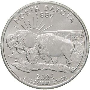 2006 D STATE QUARTER NORTH DAKOTA BU CN CLAD US COIN