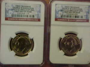 2007 P & D GEORGE WASHINGTON PRESIDENTIAL DOLLAR NGC BRILLIANT UNC 1ST DAY ISSUE