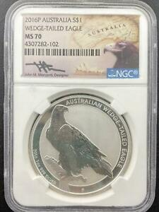 Click now to see the BUY IT NOW Price! 2016 P $1 AUSTRALIA WEDGE TAILED SILVER EAGLE NGC MS70 JOHN MERCANTI SIGNED