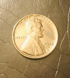 1943 D STEEL PENNY STUNNING BU COIN ONE OF A KIND