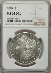 Click now to see the BUY IT NOW Price! 1897 MORGAN DOLLAR MS66DMPL NGC  PA5743592005