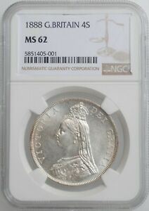 Click now to see the BUY IT NOW Price! GREAT BRITAIN 4 SHILLINGS  2 FLORINS  1888 NGC MS62