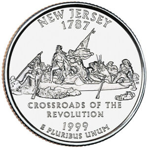 1999 D STATE QUARTER   NEW JERSEY  BRILLIANT UNCIRCULATED