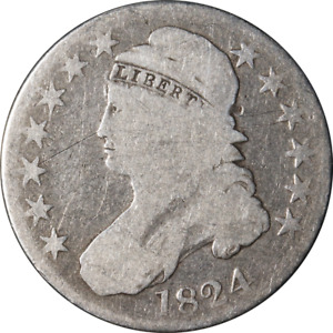 1824 BUST HALF DOLLAR GREAT DEALS FROM THE EXECUTIVE COIN COMPANY